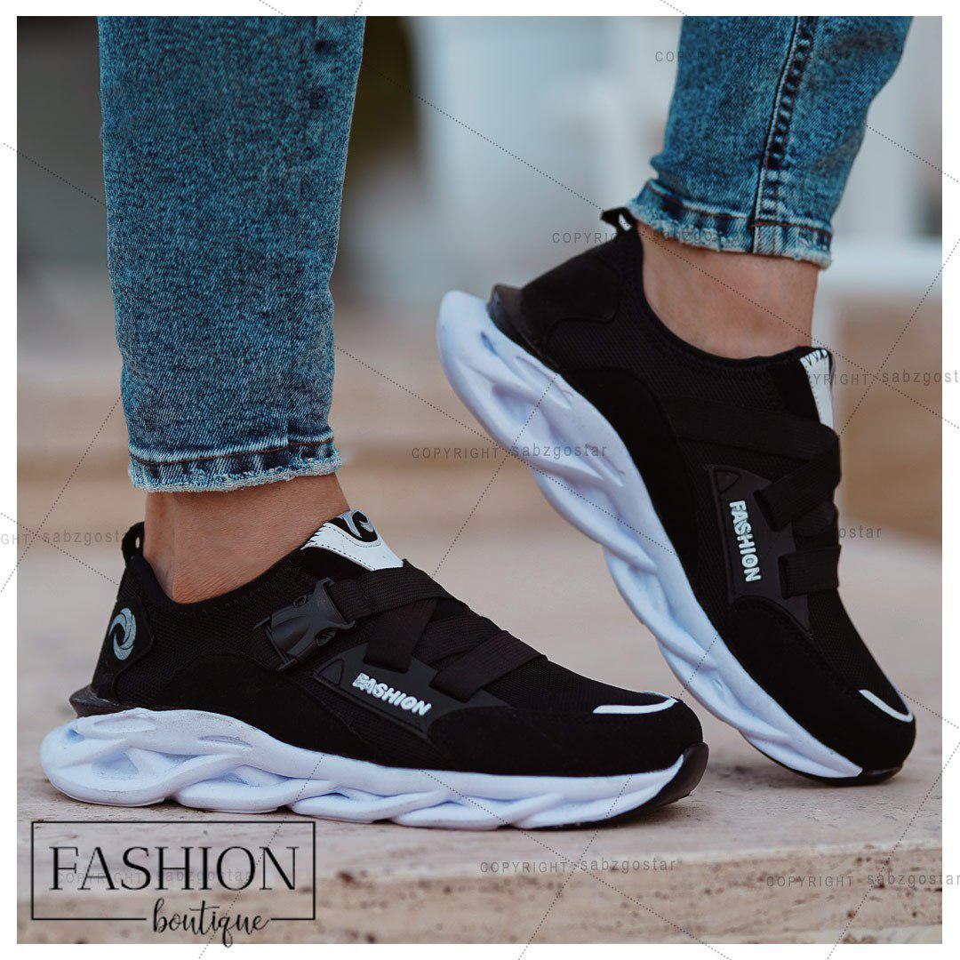 کفش مردانه Fashion (مشکی سفید)