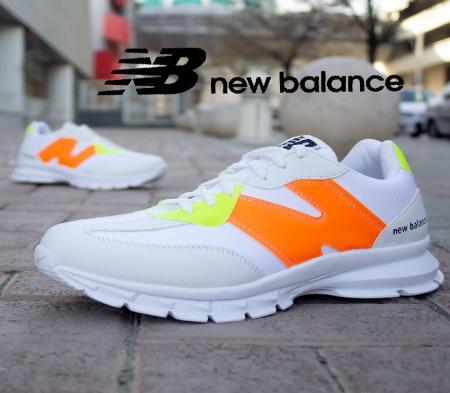 کفش مردانه New balanceمدل Pert(سفید نارنجی)