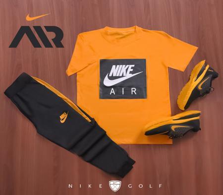 ست تیشرت وشلوار مردانه Nike مدل Zilan (زرد)
