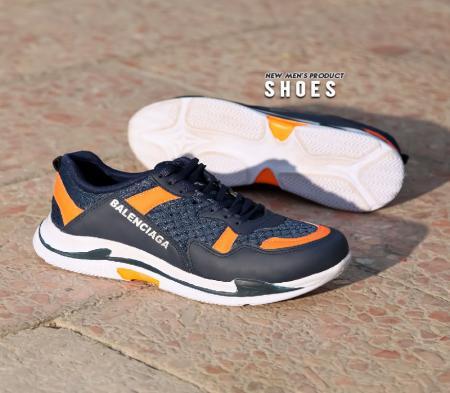 کفش مردانه Balenciaga plus(سورمه ای نارنجی)